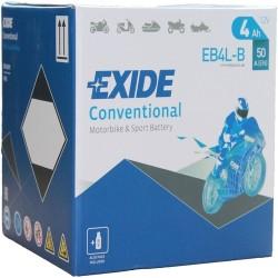 Exide EB4L-B 12v 4Ah Wet Motorcycle Battery Exide Motorcycle