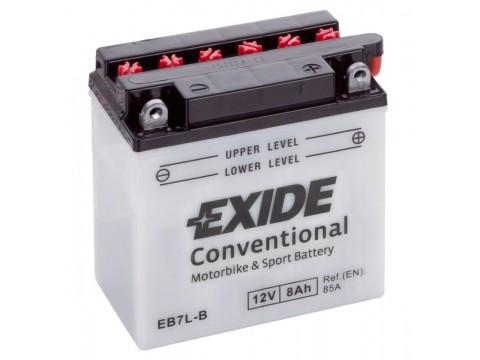 Exide EB7L-B 12v 8Ah Wet Motorcycle Battery Exide Motorcycle