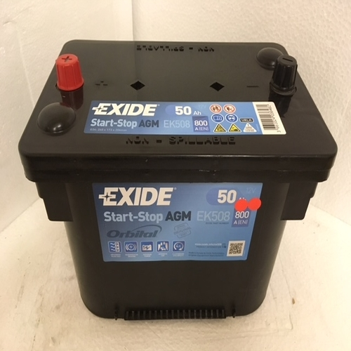 exide ek508 stop start agm car battery. Black Bedroom Furniture Sets. Home Design Ideas