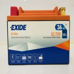 Exide ELTX9 12V 36Wh Lithium Motorcycle Battery