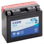 Exide ET12BBS 12v 10Ah AGM Motorcycle Battery (YT12B4) Exide Motorcycle