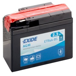 Exide ETR4A-BS 12v 2.3Ah AGM Motorcycle Battery Exide Motorcycle