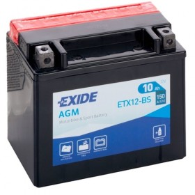 Exide ETX12-BS 12v 10Ah AGM Motorcycle Battery Exide Motorcycle