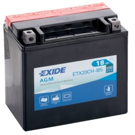 Exide ETX20CH-BS 12v 18Ah AGM Motorcycle Battery Exide Motorcycle