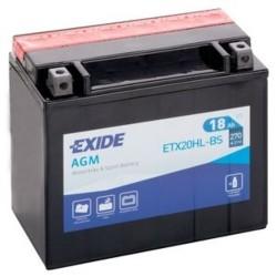 Exide ETX20HL-BS 12v 18Ah AGM Motorcycle Battery Exide Motorcycle