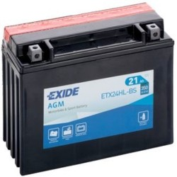 Exide ETX24HL-BS 12v 21Ah AGM Motorcycle Battery Exide Motorcycle