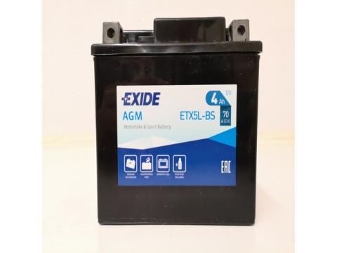 Exide ETX5L-BS 12v 4Ah AGM Motorcycle Battery Exide Motorcycle (ETX5LBS)
