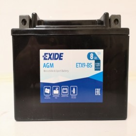 Exide YTX9-BS 12v 8Ah AGM Motorcycle Battery Exide Motorcycle (ETX9BS)