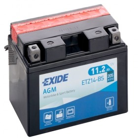 Exide ETZ14-BS 12v 11.2Ah AGM Motorcycle Battery (YTZ14S-BS) Exide Motorcycle
