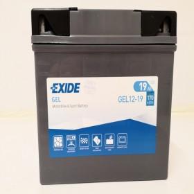 Exide Gel 12-19 12v 19Ah Motorcycle Gel Battery (YT19BL-BS) (12-19) Exide Motorcycle