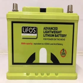 Lifos Advanced Lightweight Lithium 68Ah Power Battery