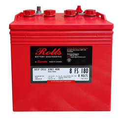 Rolls 8V 8-FS-180 8v 182Ah Deep Cycle Battery (8FS180)