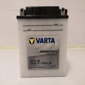 Varta YB10L-B2 Funstart Wet Motorcycle Battery (511 013 009) (YB10LB2) (12N10-3B) 12V 11Ah Varta Funstart Wet