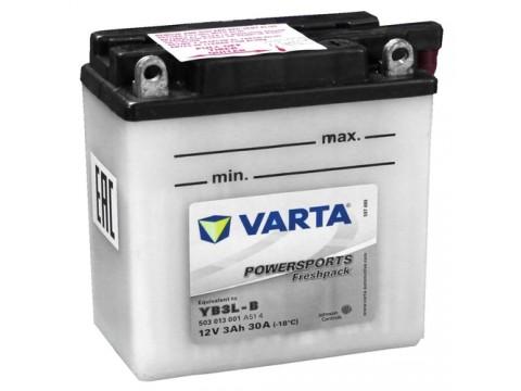 Varta YB3L-B Funstart Wet Motorcycle Battery (503 013 001) (YB3LB) 12V 3Ah Varta Funstart Wet