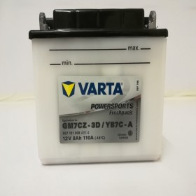 Varta YB7C-A Funstart Wet Motorcycle Battery (507 101 008) (YB7CA) 12V 7Ah Varta Funstart Wet