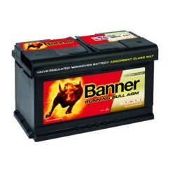 Banner 110 12v 80Ah 800CCA AGM Stop/Start Car Battery (580 01) (110AGM) Banner Stop/Start
