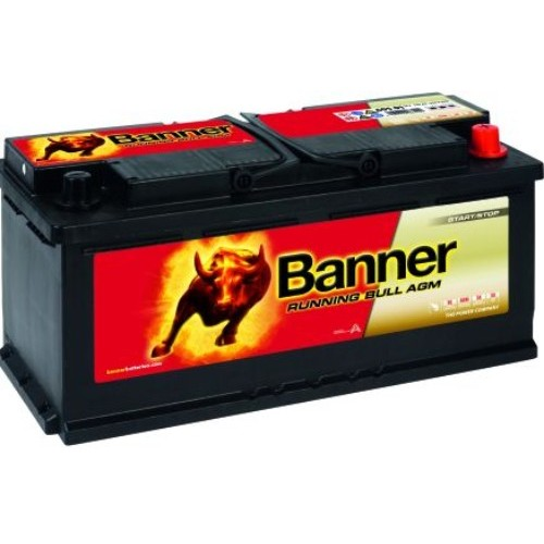 banner 020 12v 105ah 9500cca stop start agm car battery. Black Bedroom Furniture Sets. Home Design Ideas