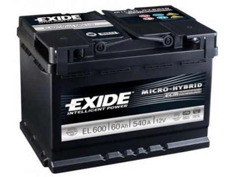 exide el600 stop start battery 027 efb. Black Bedroom Furniture Sets. Home Design Ideas