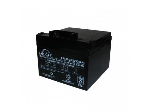 Leoch LPC12-26 Golf Trolley Battery (12V 26AH) (26-12)(AGM28EV) Leoch AGM & GEL