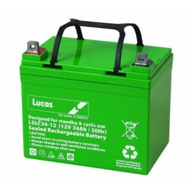 Lucas LSLC34-12G Golf Trolley Battery (34-12) Lucas Golf Trolley