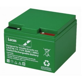 Lucas LSLC26-12 Mobility Battery (26-12) Lucas Golf Trolley