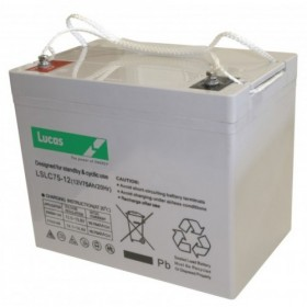 Lucas LSLC75-12 Mobility Battery (75-12) Leoch Leisure