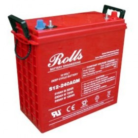 Rolls 12V S12-240AGM Deep Cycle Battery Rolls Marine