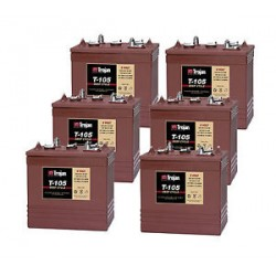 6 x T105 6v 225Ah Golf Buggy Batteries (T-105) t105 Trojan Leisure