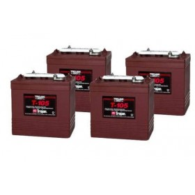 4 X Trojan T105 6v 225Ah Deep Cycle Batteries (T-105) t105 Trojan Leisure