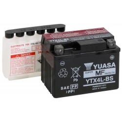 Yuasa YTX4L-BS 12v 3.2Ah AGM Motorcycle Battery ( YT4LB-S)