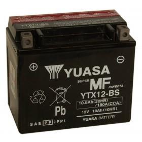 Yuasa YTX12-BS 12V 10Ah Motorcycle AGM Battery