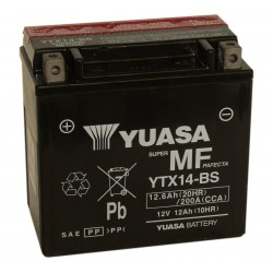 Yuasa YTX14-BS 12V 12.6Ah Motorcycle AGM Battery
